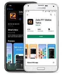 CB radio app from Zello