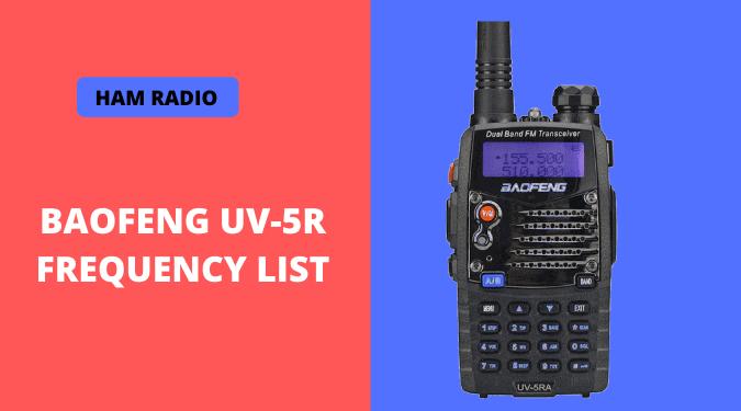 BaoFeng UV-5R Frequency list