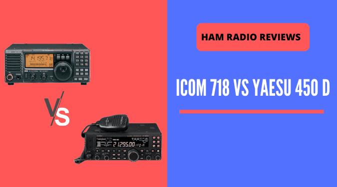 ICOM 718 vs Yaesu 450D differences